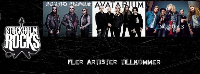 STOCKHOLM ROCKS: AVATARIUM, GRAND MAGUS, INGLORIOUS M.FL